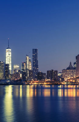 View of Manhattan by night