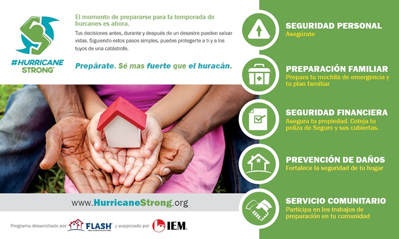 #HurricaneStrong FLASH ad in Spanish