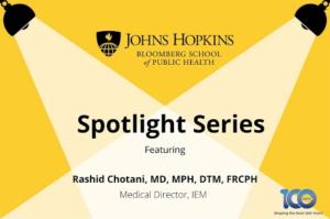JHU Spotlight Series - COVID-19 and Seasonal Influenza:  Preparing Hospitals and Vaccinating Patients, Part I