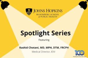 JHU Spotlight Series - COVID-19 and Seasonal Influenza:  Preparing Hospitals and Vaccinating Patients, Part II