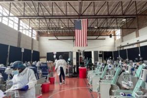 A Coast hospital turned a gym into a COVID antibody treatment center. Get an inside look.